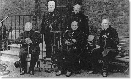 Group Photo of the Some of the Last British Survivors of the Battle of Waterloo